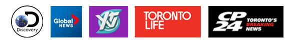 Discovery Channel, Global TV, Toronto Life, CP 24, YTV